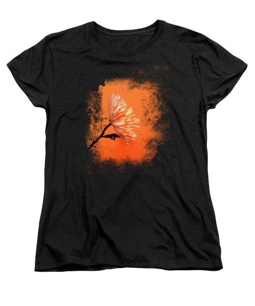 Chrysanthemum Orange Women's T-Shirt (Standard Cut) by Mark Rogan