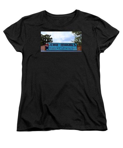 Chu - Mikals - Friendly Austin Texas Charm Women's T-Shirt (Standard Cut) by Ray Shrewsberry