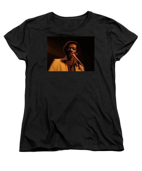 Chuck Berry Gold Women's T-Shirt (Standard Cut) by Paul Meijering