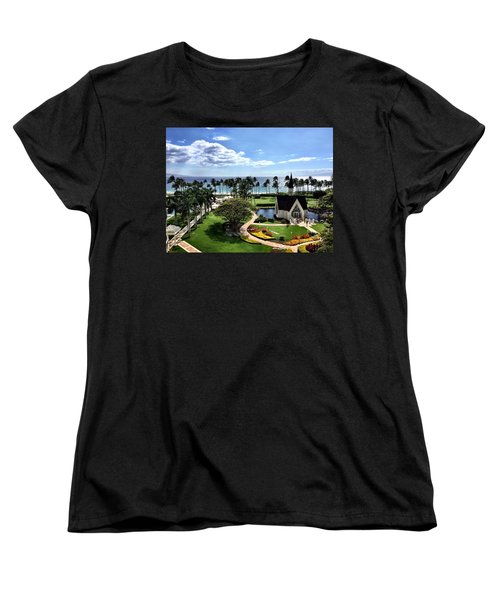 Women's T-Shirt (Standard Cut) featuring the photograph Church In Paradise by Michael Albright