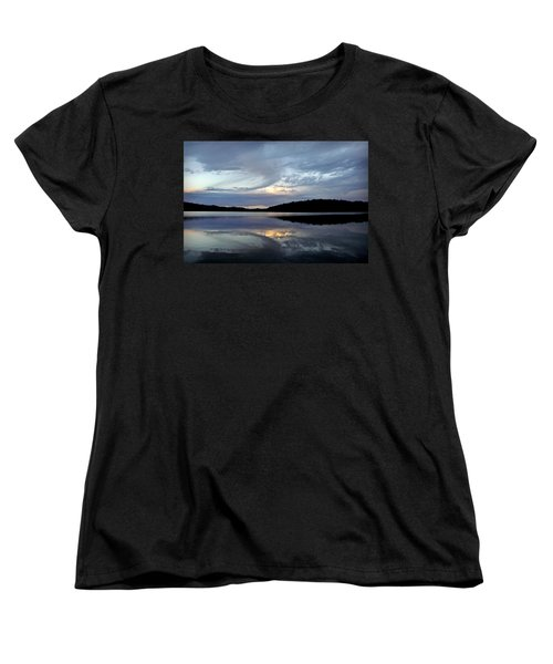 Women's T-Shirt (Standard Cut) featuring the photograph Churning Clouds At Sunrise by Chris Berry