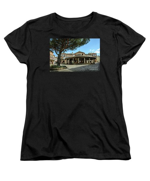 Circular Grain Market In Auvillar Women's T-Shirt (Standard Cut) by RicardMN Photography