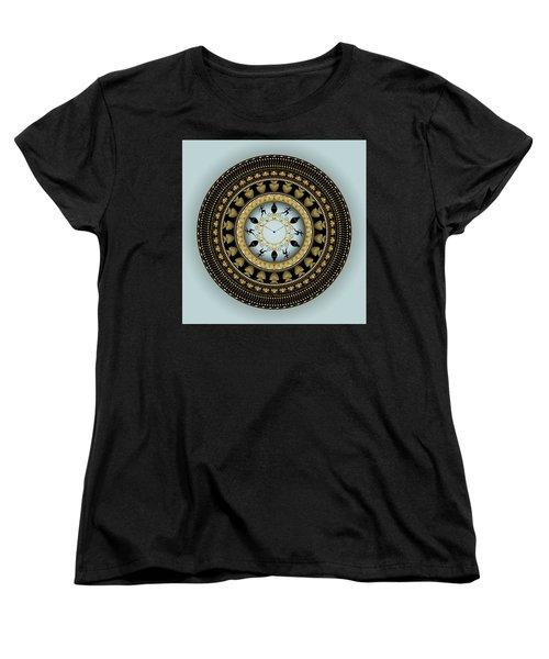 Women's T-Shirt (Standard Cut) featuring the digital art Circularium No 2658 by Alan Bennington