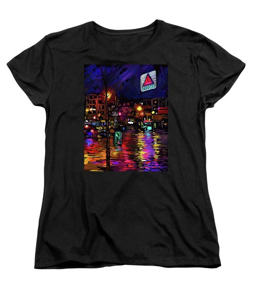 Citgo Sign, Boston Women's T-Shirt (Standard Cut) by DC Langer