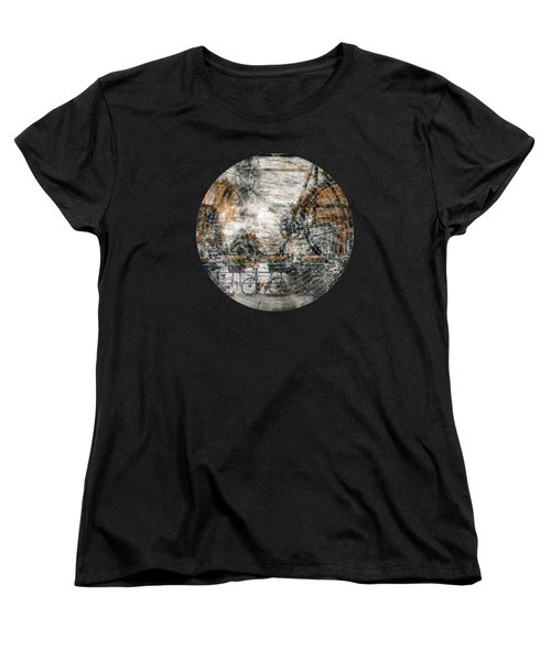 City-art Amsterdam Bicycles  Women's T-Shirt (Standard Cut) by Melanie Viola