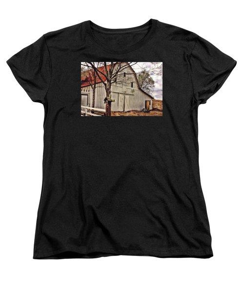 Women's T-Shirt (Standard Cut) featuring the photograph City Barn by Joan Bertucci
