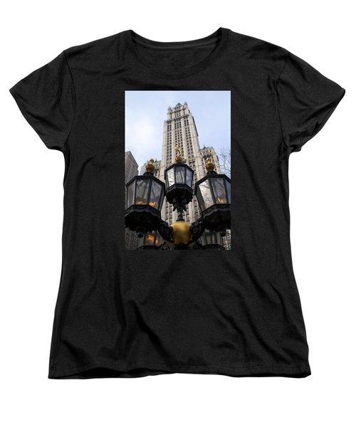 City Hall Area Nyc Women's T-Shirt (Standard Cut) by Henri Irizarri