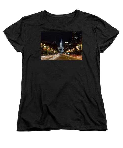 City Hall From The Parkway Women's T-Shirt (Standard Cut) by Jennifer Ancker