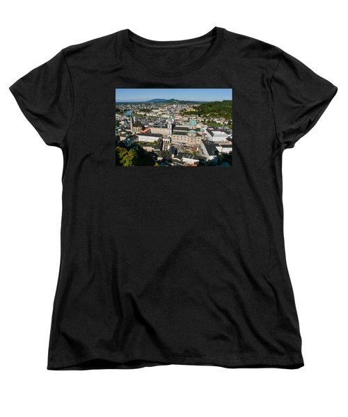 Women's T-Shirt (Standard Cut) featuring the photograph City Of Salzburg by Silvia Bruno