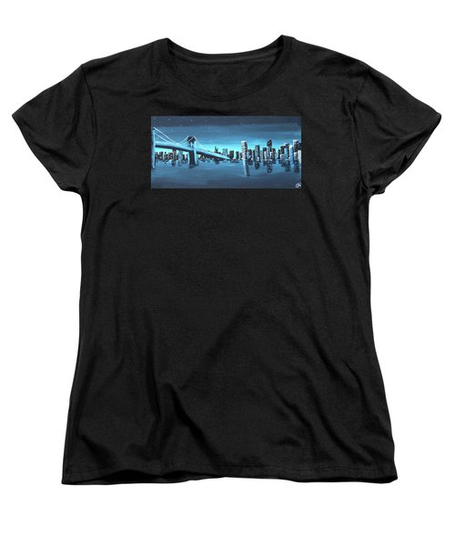 City Skyline Women's T-Shirt (Standard Cut) by Cyrionna The Cyerial Artist