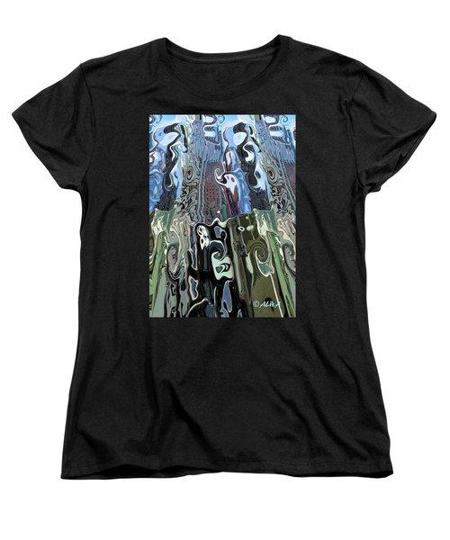 City Towers Women's T-Shirt (Standard Cut) by Alika Kumar
