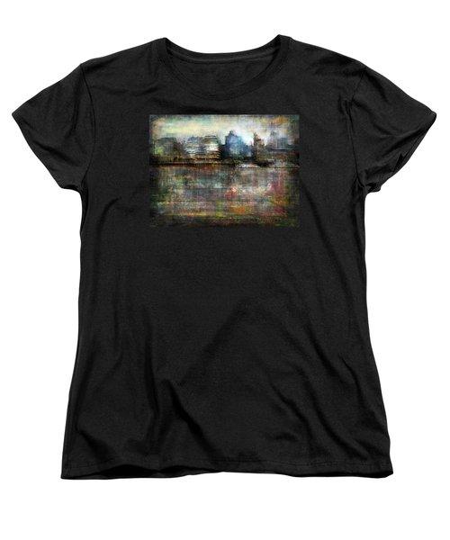 Cityscape #33. Silent Windows Women's T-Shirt (Standard Cut) by Alfredo Gonzalez