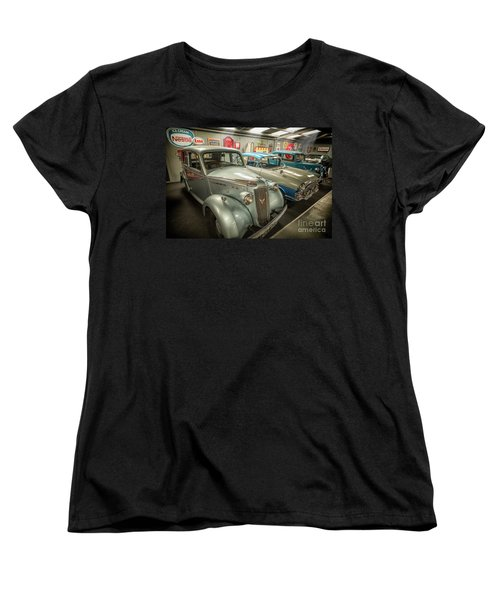 Women's T-Shirt (Standard Cut) featuring the photograph Classic Car Memorabilia by Adrian Evans