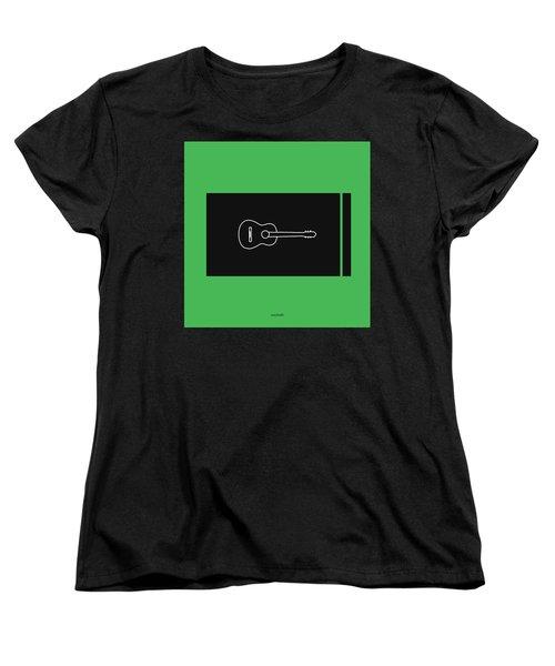 Classical Guitar In Green Women's T-Shirt (Standard Cut) by David Bridburg