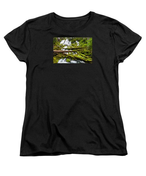 Clearwater Falls And Rapids Women's T-Shirt (Standard Cut) by Greg Nyquist