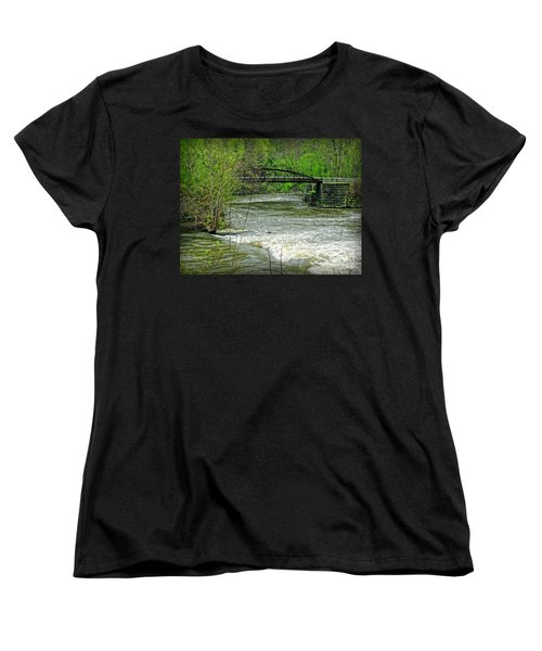 Cleveland Metropark Bridge Women's T-Shirt (Standard Cut) by Joan  Minchak