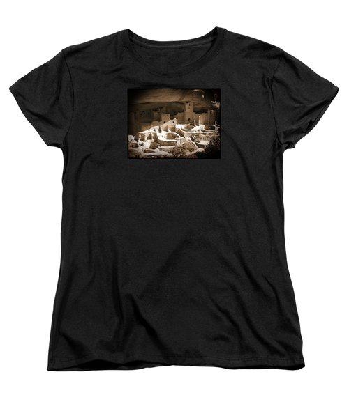 Women's T-Shirt (Standard Cut) featuring the photograph Cliff Palace Mesa Verde by Kurt Van Wagner