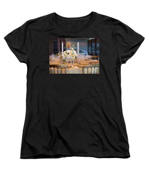 Clinton State Dinner 1 Women's T-Shirt (Standard Cut) by Randall Weidner