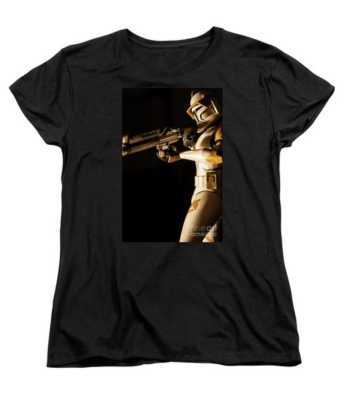 Women's T-Shirt (Standard Cut) featuring the photograph Clone Trooper 6  by Micah May
