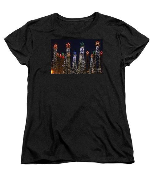 Closeup Of Kilgore Texas Derricks Women's T-Shirt (Standard Cut) by Kathy  White