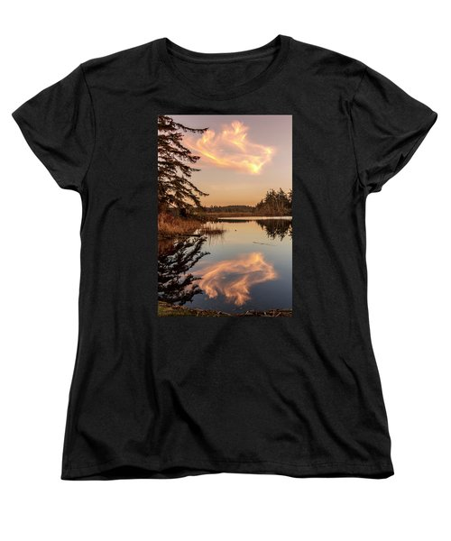 Cloud On Cranberry Lake Women's T-Shirt (Standard Cut) by Tony Locke