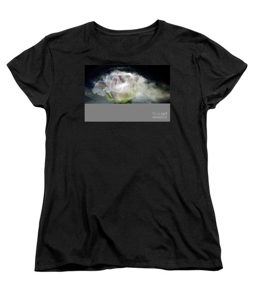 Cloud Rose Women's T-Shirt (Standard Cut) by Clayton Bruster