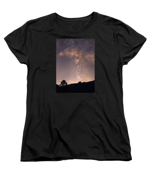 Clouds And Milky Way Women's T-Shirt (Standard Cut) by Wanda Krack