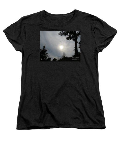 Cloudy Sun Women's T-Shirt (Standard Cut) by Michele Penner