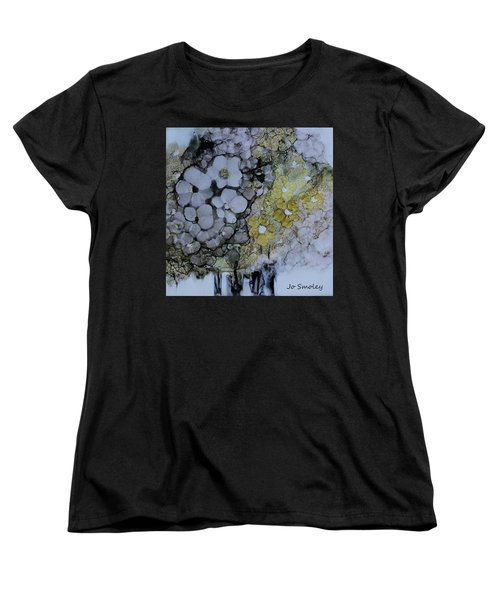 Women's T-Shirt (Standard Cut) featuring the painting Cloudy With A Chance Of Sunshine by Joanne Smoley
