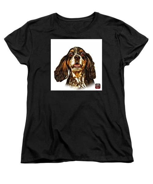 Cocker Spaniel Pop Art - 8249 - Wb Women's T-Shirt (Standard Cut) by James Ahn
