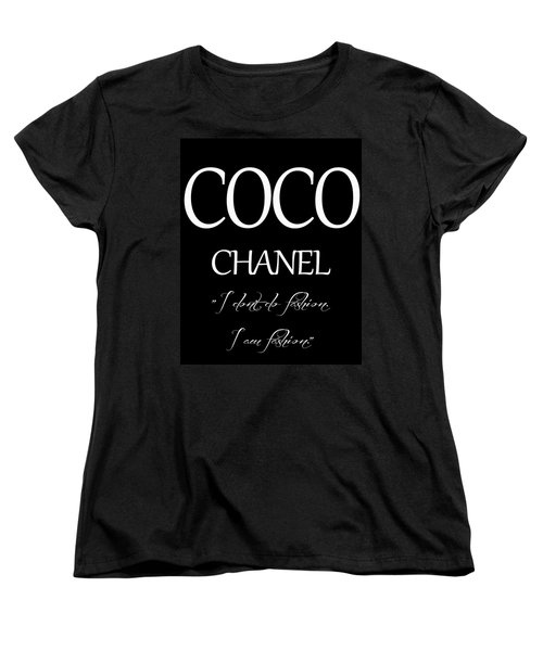 Coco Chanel Quote Women's T-Shirt (Standard Cut) by Dan Sproul