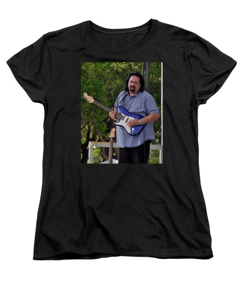 Coco Montoya And His Ocean Blue Fender American Standard Stratoc Women's T-Shirt (Standard Cut)