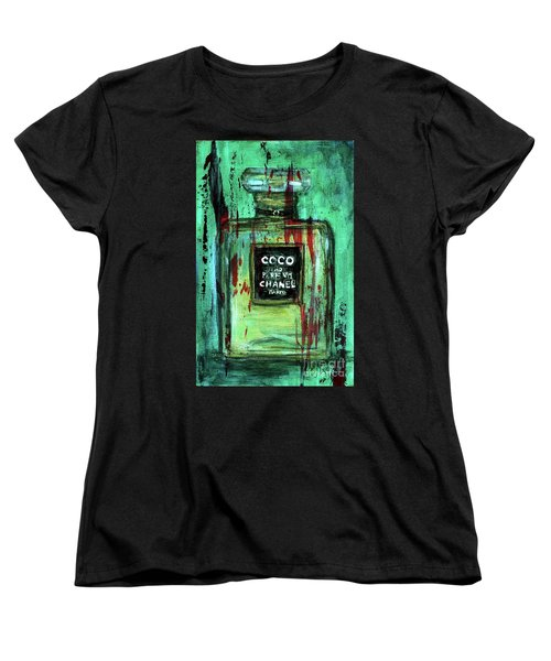 Women's T-Shirt (Standard Cut) featuring the painting Coco Potion by P J Lewis