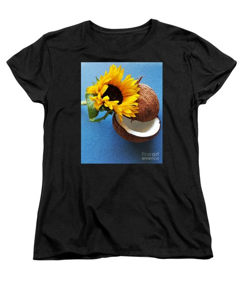 Coconut And Sunflower Harmony Women's T-Shirt (Standard Cut) by Jasna Gopic