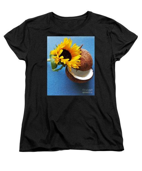Coconut And Sunflower Harmony Women's T-Shirt (Standard Cut)