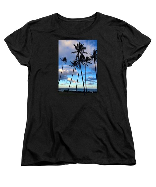 Coconut Palms Women's T-Shirt (Standard Cut) by Brenda Pressnall