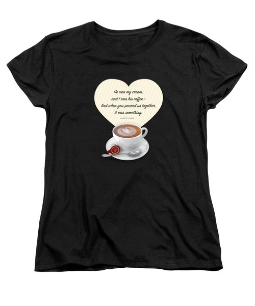 Coffee And Cream Women's T-Shirt (Standard Cut) by Mary Machare