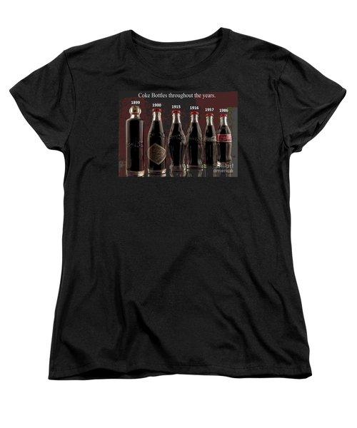 Coke Through Time Women's T-Shirt (Standard Cut) by George Pedro