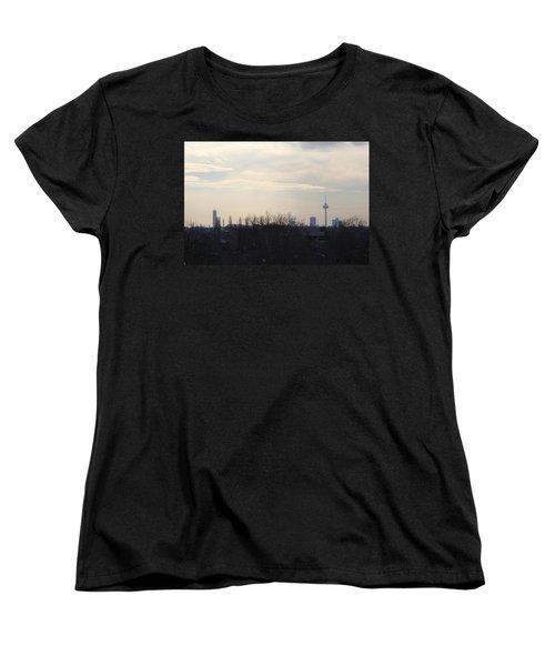 Cologne Skyline  Women's T-Shirt (Standard Cut) by Michael Paszek