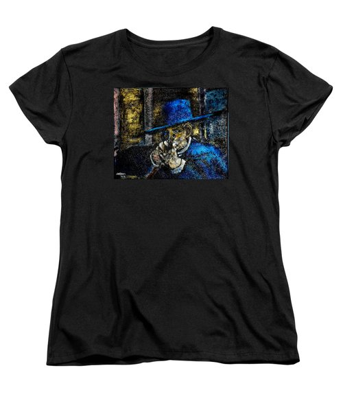 Women's T-Shirt (Standard Cut) featuring the painting Colonel Mortimer's Shot by Seth Weaver