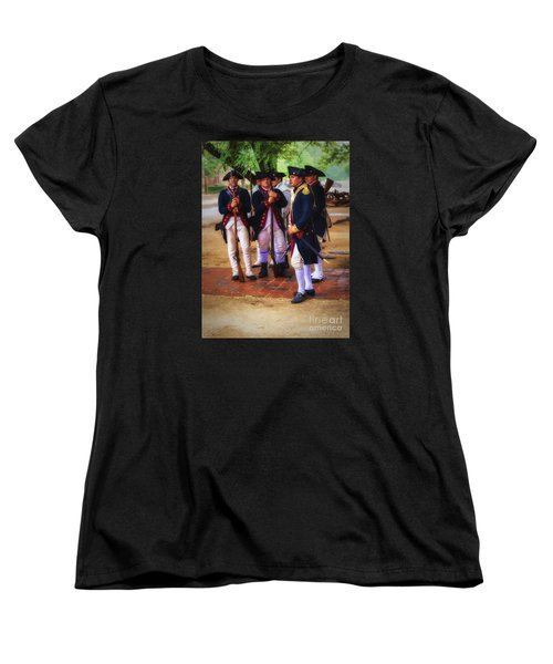 Women's T-Shirt (Standard Cut) featuring the photograph Colonial Army  ... by Chuck Caramella