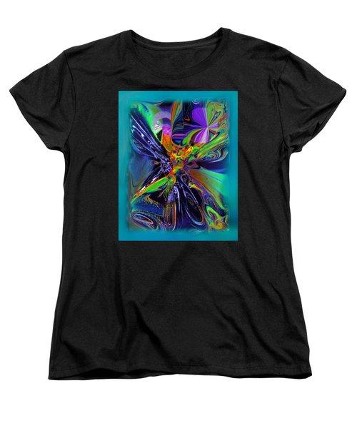 Color Burst Women's T-Shirt (Standard Cut) by Yul Olaivar
