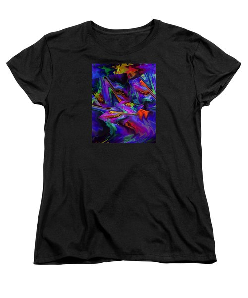 Women's T-Shirt (Standard Cut) featuring the digital art Color Journey by Lynda Lehmann