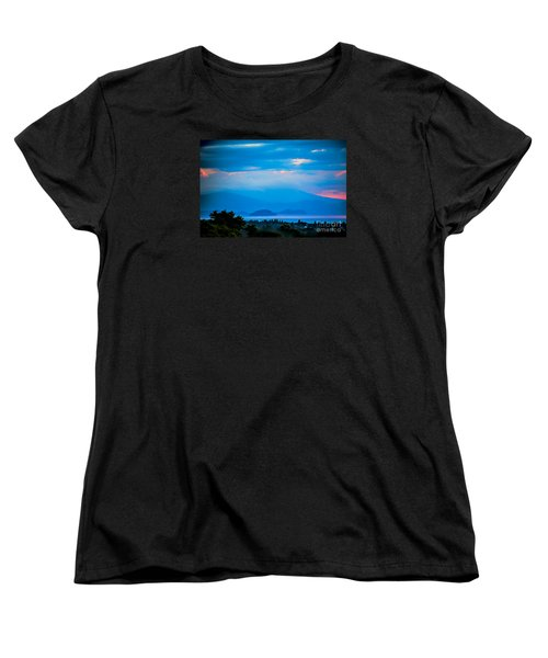 Women's T-Shirt (Standard Cut) featuring the photograph Color Over The Lake by Rick Bragan