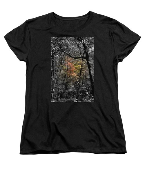 Women's T-Shirt (Standard Cut) featuring the photograph Color Your World by Geri Glavis