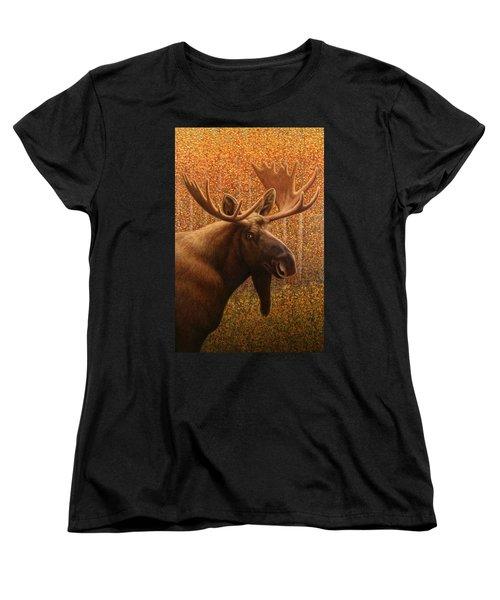 Colorado Moose Women's T-Shirt (Standard Cut) by James W Johnson