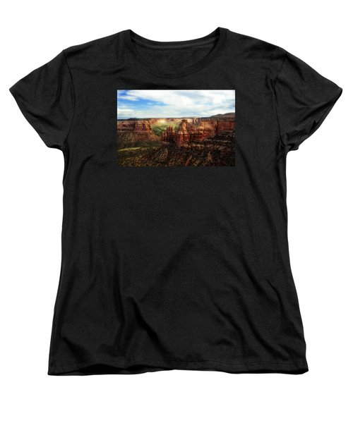 Colorado National Monument Women's T-Shirt (Standard Cut) by Marilyn Hunt