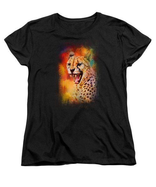 Colorful Expressions Cheetah 2 Women's T-Shirt (Standard Cut) by Jai Johnson