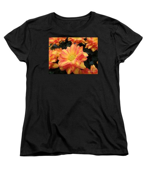 Women's T-Shirt (Standard Cut) featuring the photograph Colorful Mums by Ray Shrewsberry