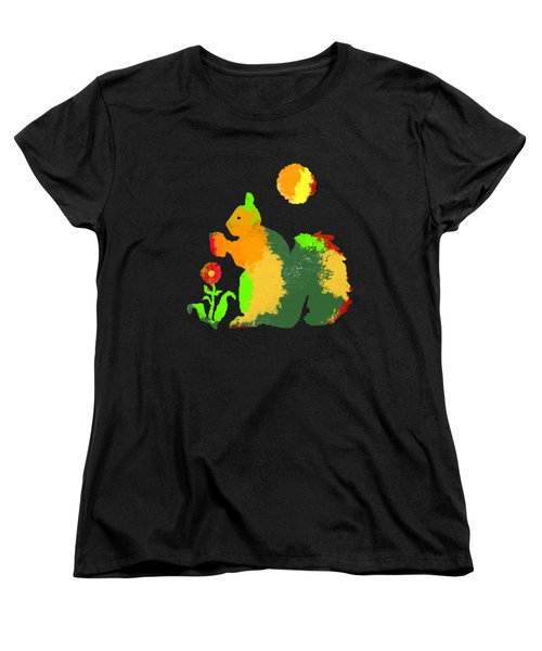 Colorful Squirrel 1 Women's T-Shirt (Standard Cut) by Holly McGee